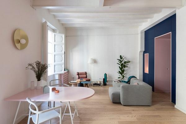 5 mẫu thiết kế nội thất sử dụng màu cam san hô - 13