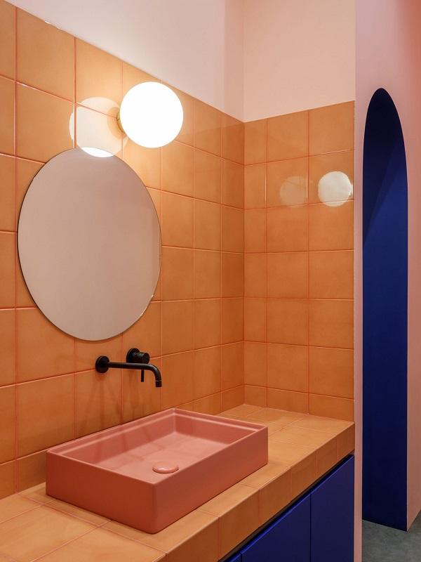 5 mẫu thiết kế nội thất sử dụng màu cam san hô - 1