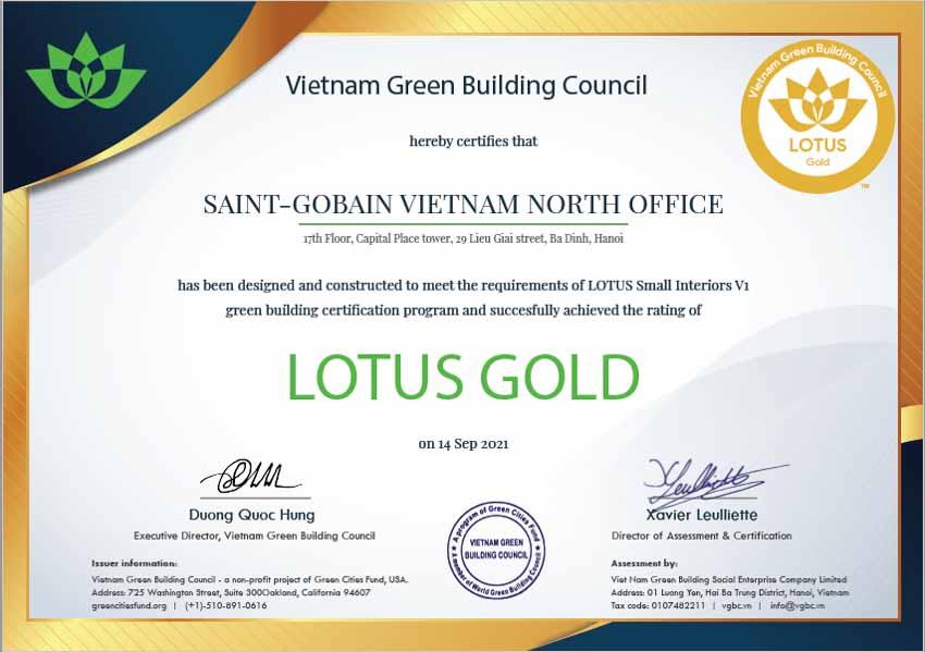 Văn phòng Saint-Gobain Việt Nam đạt chứng nhận Công trình Xanh Lotus Gold - 5