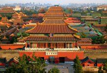 Toàn cảnh Tử Cấm Thành ở Bắc Kinh, Trung Quốc.