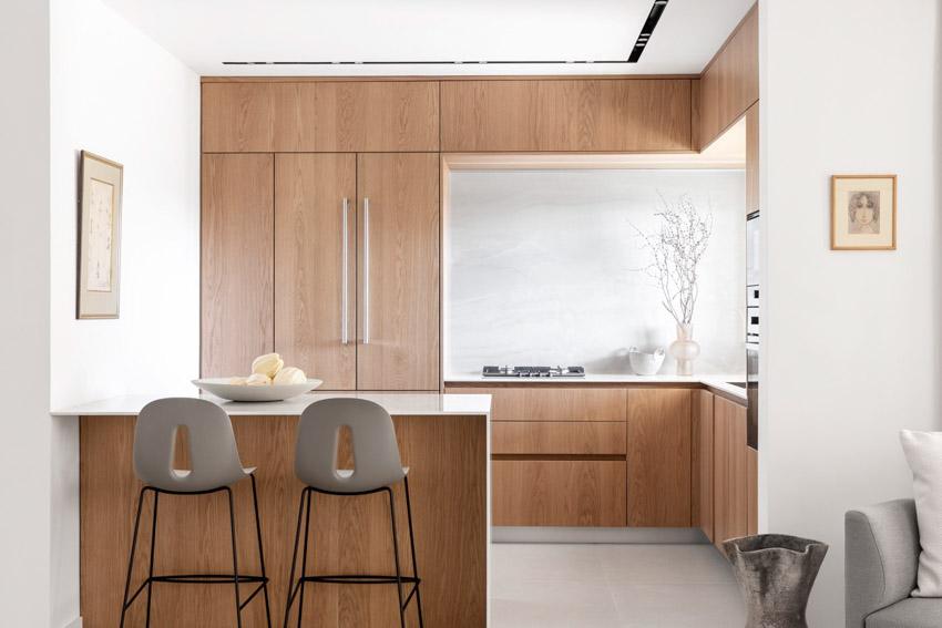 Khám phá căn hộ hiện đại ấm cúng với tông màu xám nhẹ và hồng pastel - 02