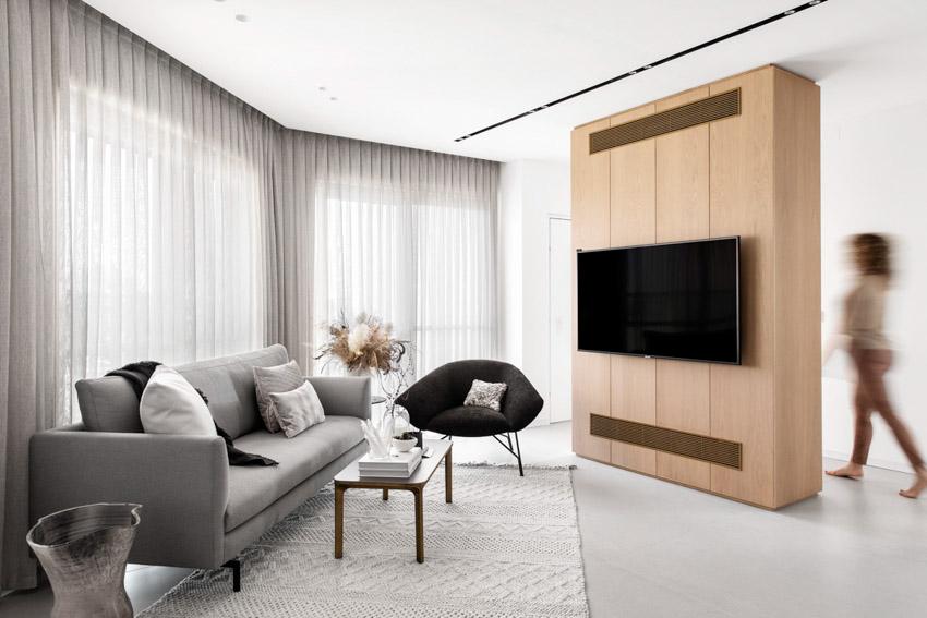 Khám phá căn hộ hiện đại ấm cúng với tông màu xám nhẹ và hồng pastel - 10