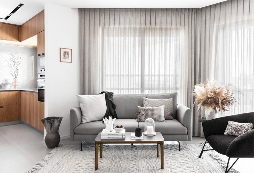 Khám phá căn hộ hiện đại ấm cúng với tông màu xám nhẹ và hồng pastel - 12