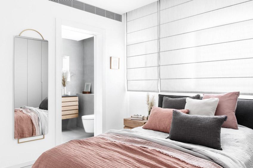 Khám phá căn hộ hiện đại ấm cúng với tông màu xám nhẹ và hồng pastel - 21