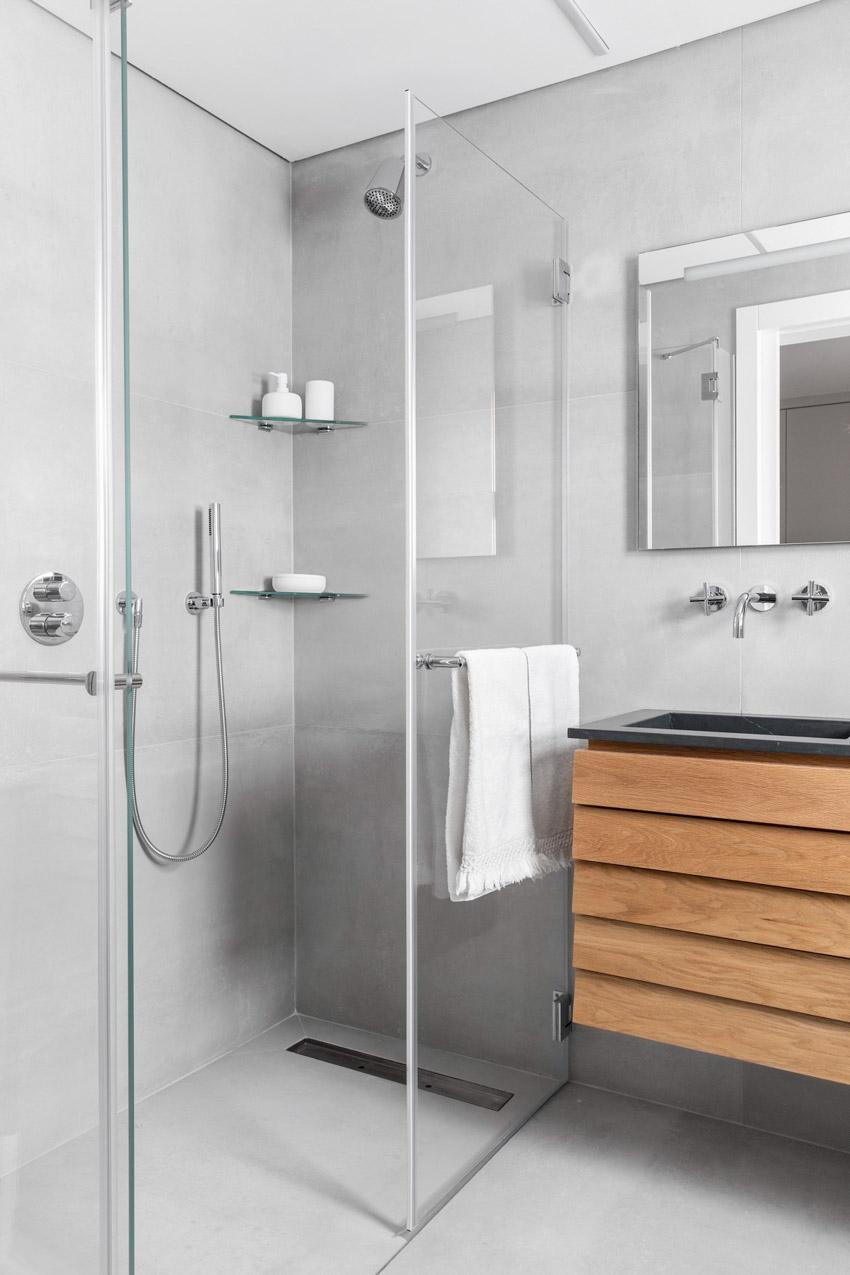 Khám phá căn hộ hiện đại ấm cúng với tông màu xám nhẹ và hồng pastel - 26