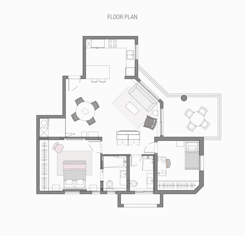 Khám phá căn hộ hiện đại ấm cúng với tông màu xám nhẹ và hồng pastel - 28