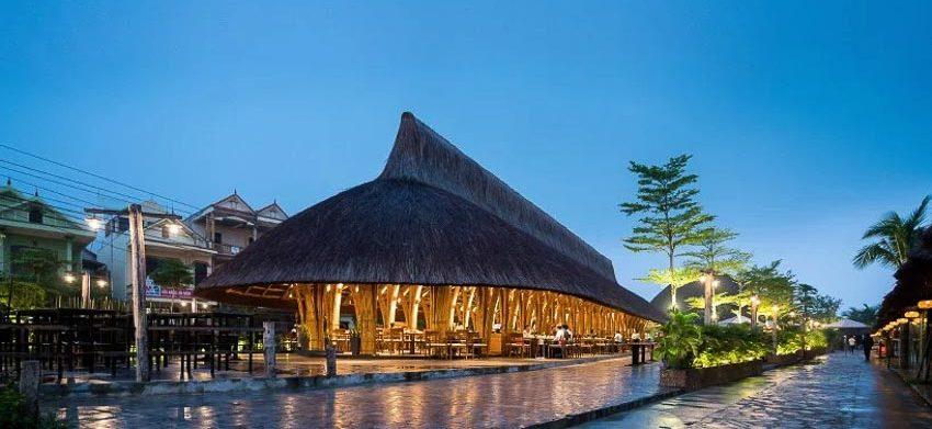 Nhà hàng tre tại Quảng Bình 1