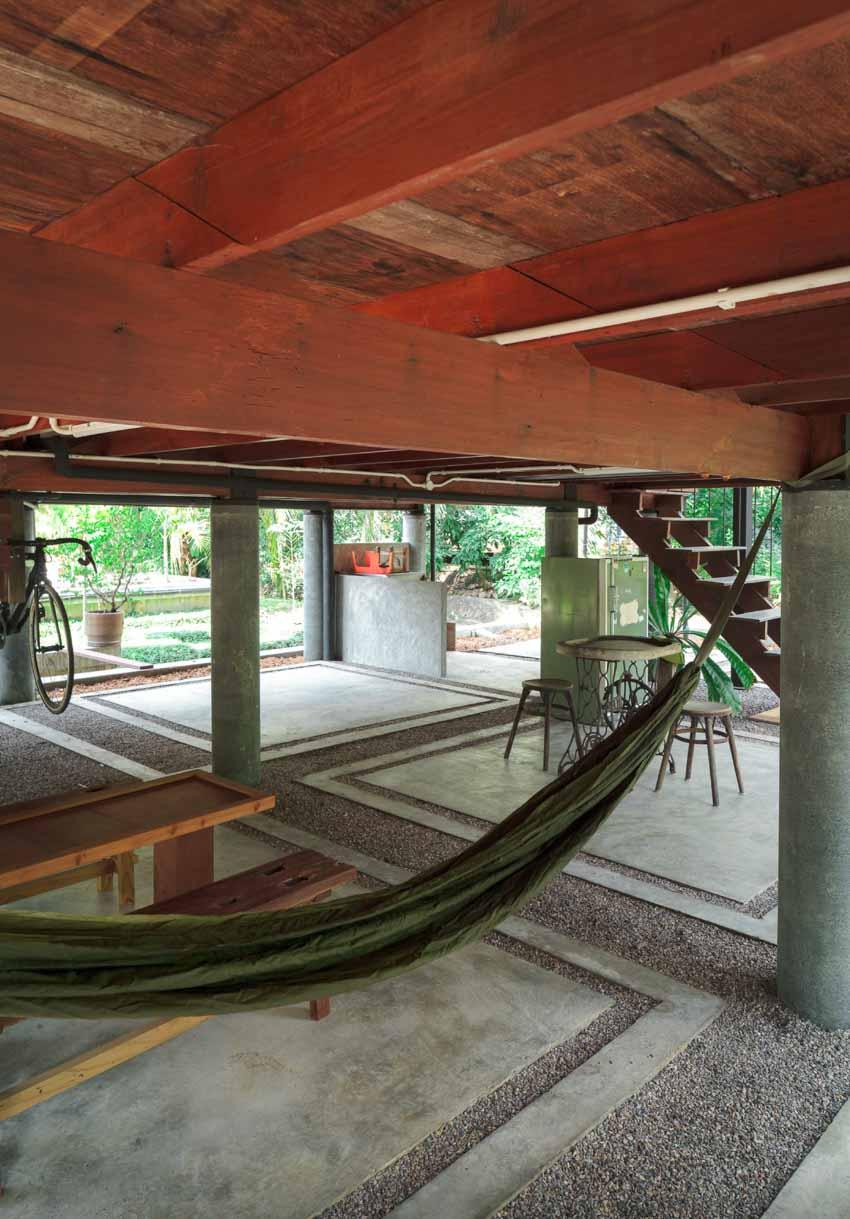 Ngôi nhà sàn gỗ ấm áp nằm giữa vườn dừa xanh mát - 10