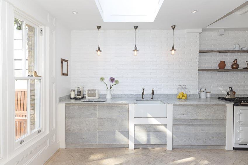 Nhà bếp tông màu trắng