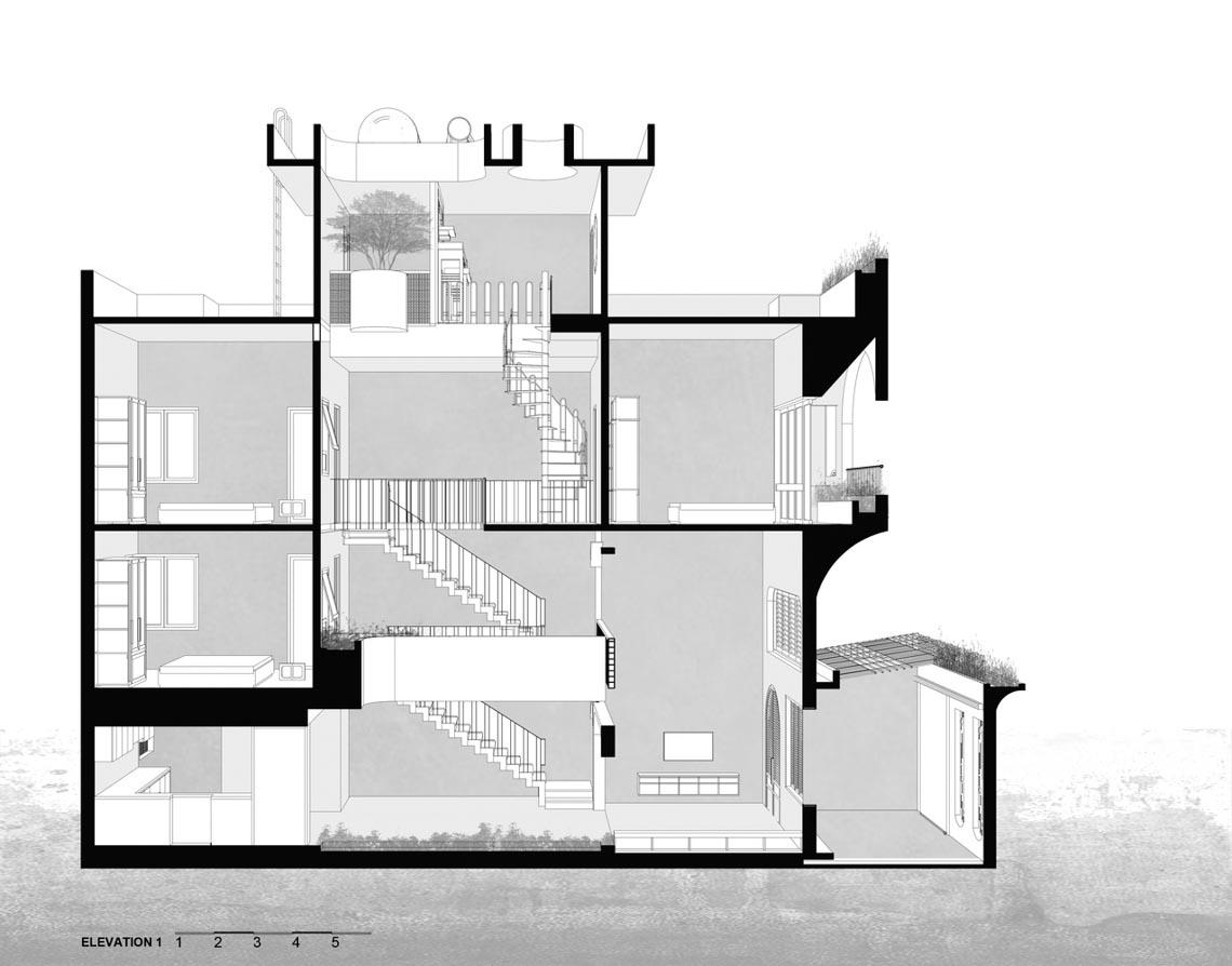 V House – ngôi nhà tràn ngập ánh sáng với những mảng xanh -32