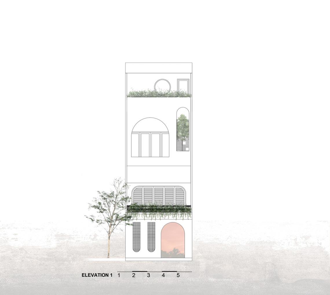 V House – ngôi nhà tràn ngập ánh sáng với những mảng xanh -33