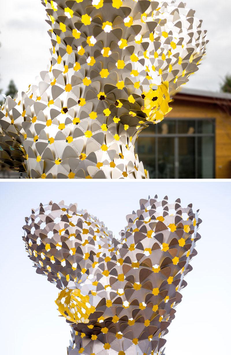 Ambigupt - tác phẩm nghệ thuật được tạo nên từ hàng trăm miếng nhôm hình cánh cung-5