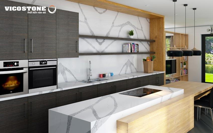 """Đá nhân tạo gốc thạch anh - bí quyết tạo nên không gian bếp """"vạn người mê""""-2new"""