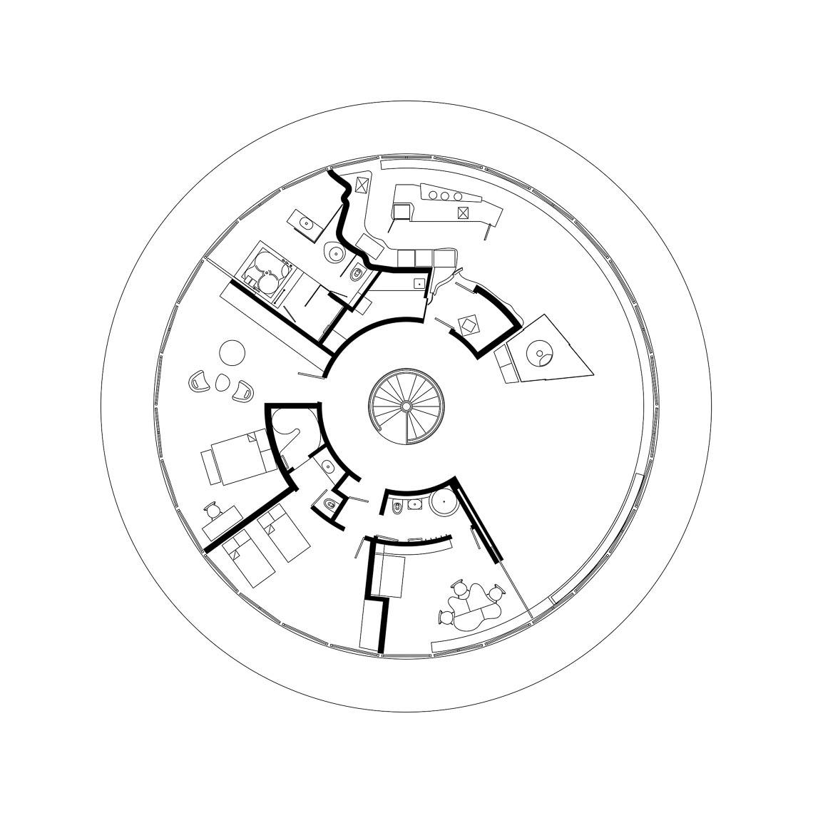 """Ngôi nhà """"xoay tròn"""" ở Connecticut-18"""