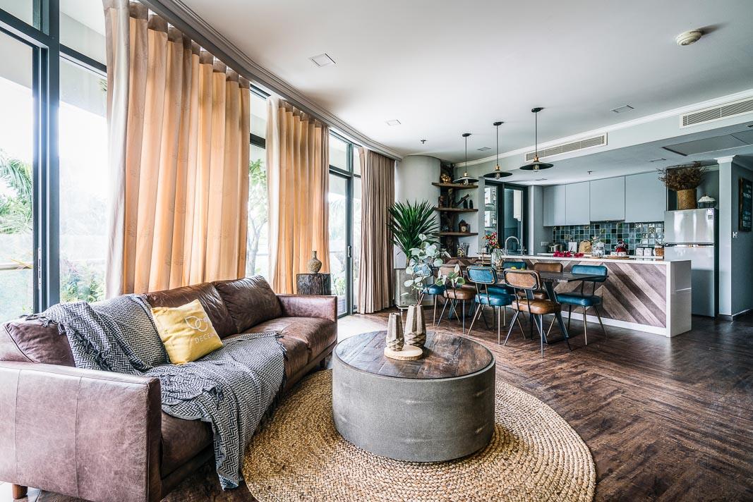 Phòng khách, bàn ăn và bếp