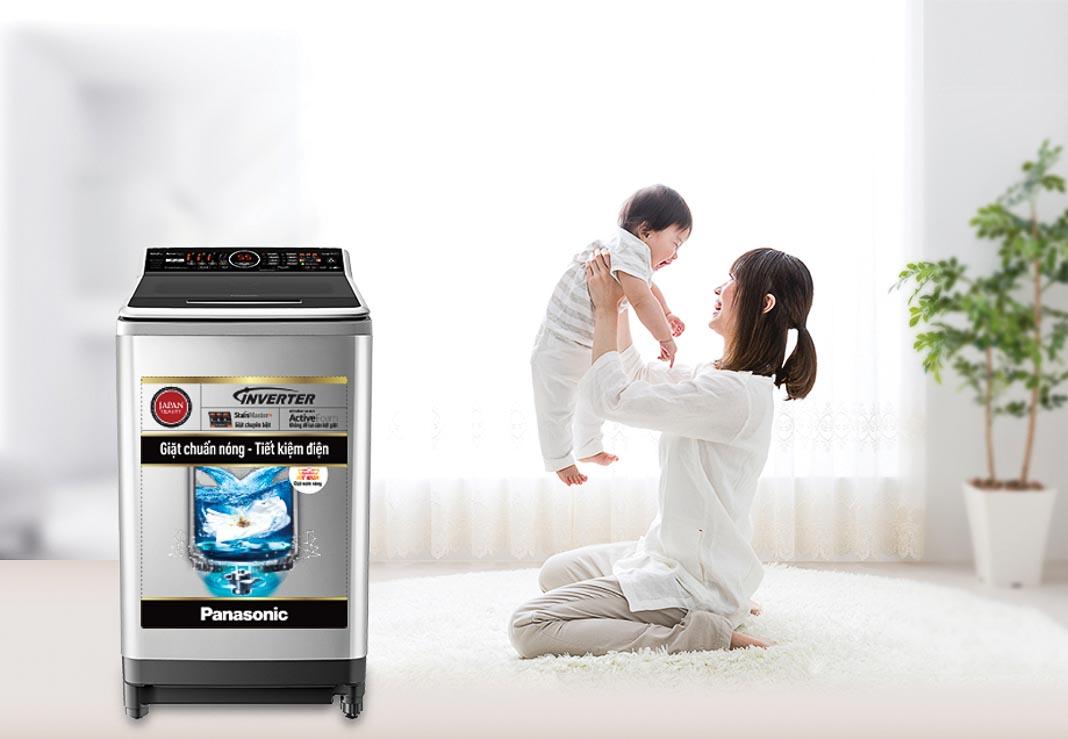Máy giặt nước nóng Panasonic Inverter series 7 3