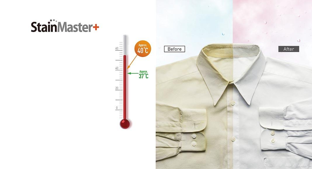 Diệt khuẩn tới 99,99% với chế độ giặt nóng StainMaster+ 1