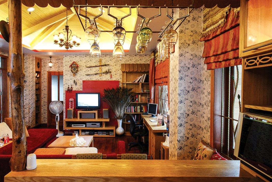 Trong nhà nhỏ, góc nghe nhìn cũng chính là nơi sinh hoạt gia đình quây quần, đầm ấm, cần chăm chút trong bài trí nội thất 1