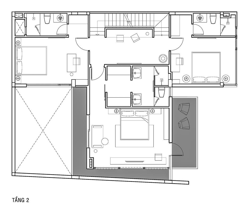 Bản vẽ tầng 2
