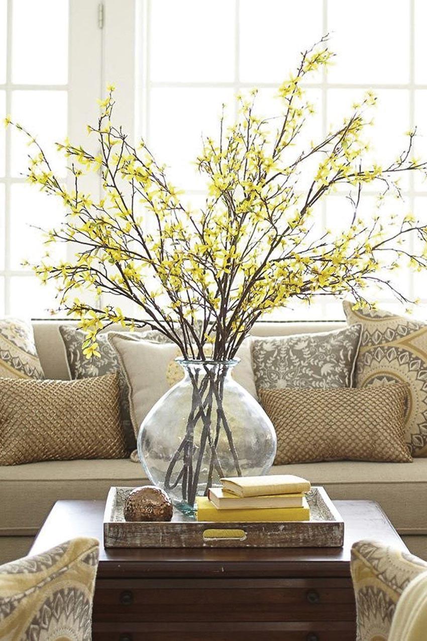 Hoa trong phòng khách 8