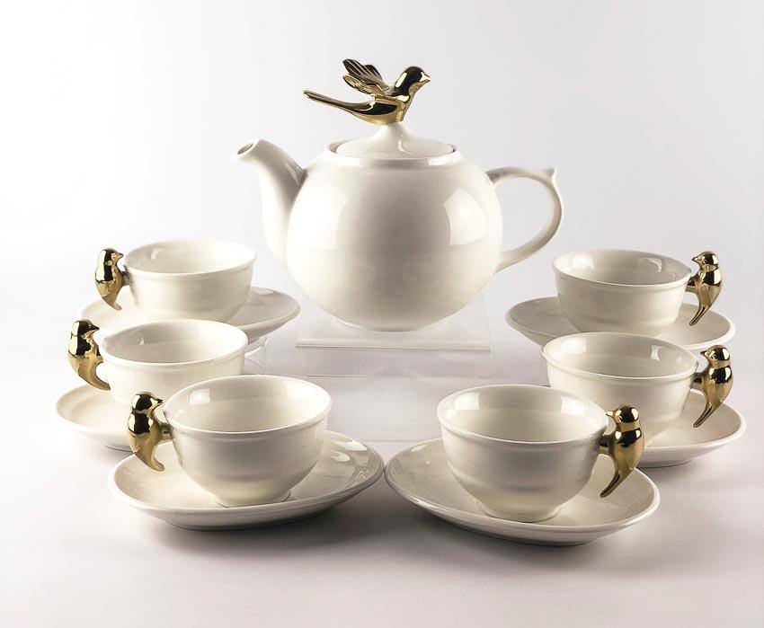 Bộ trà Én vàng
