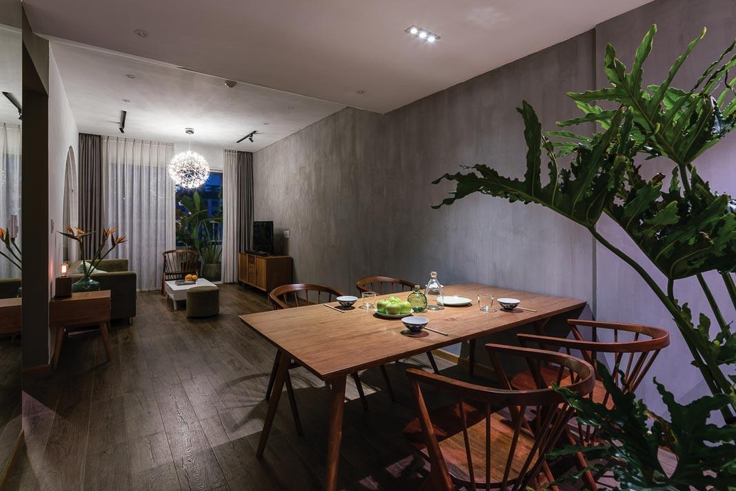 Bàn ăn và phòng khách