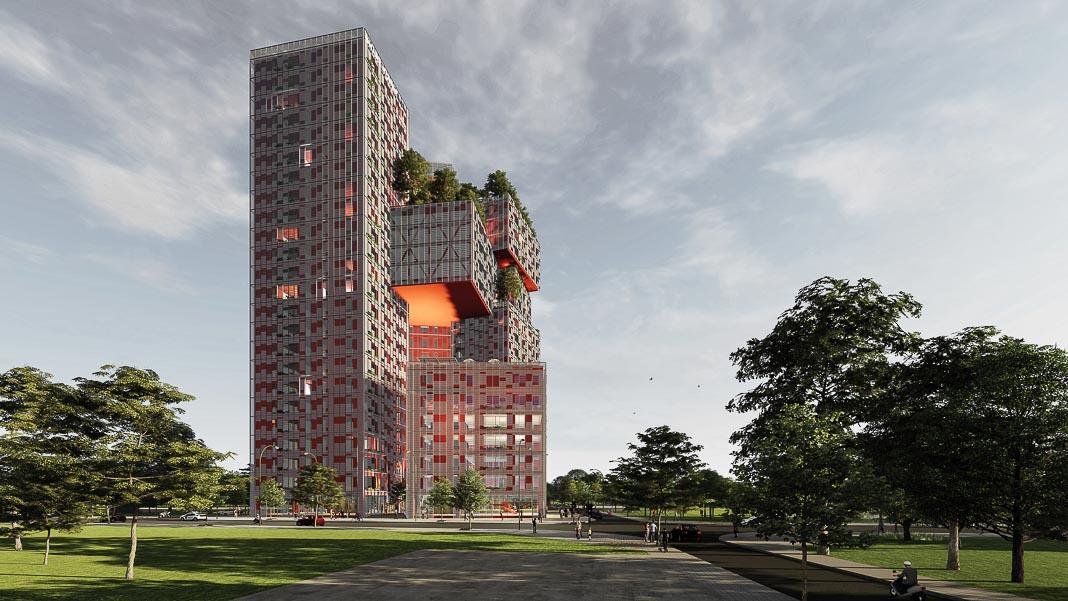 Share Tower - dự án căn hộ và văn phòng cho thuê ở Hà Nội, cũng dựa trên triết lý Cho và Nhận, đang được triển khai 2