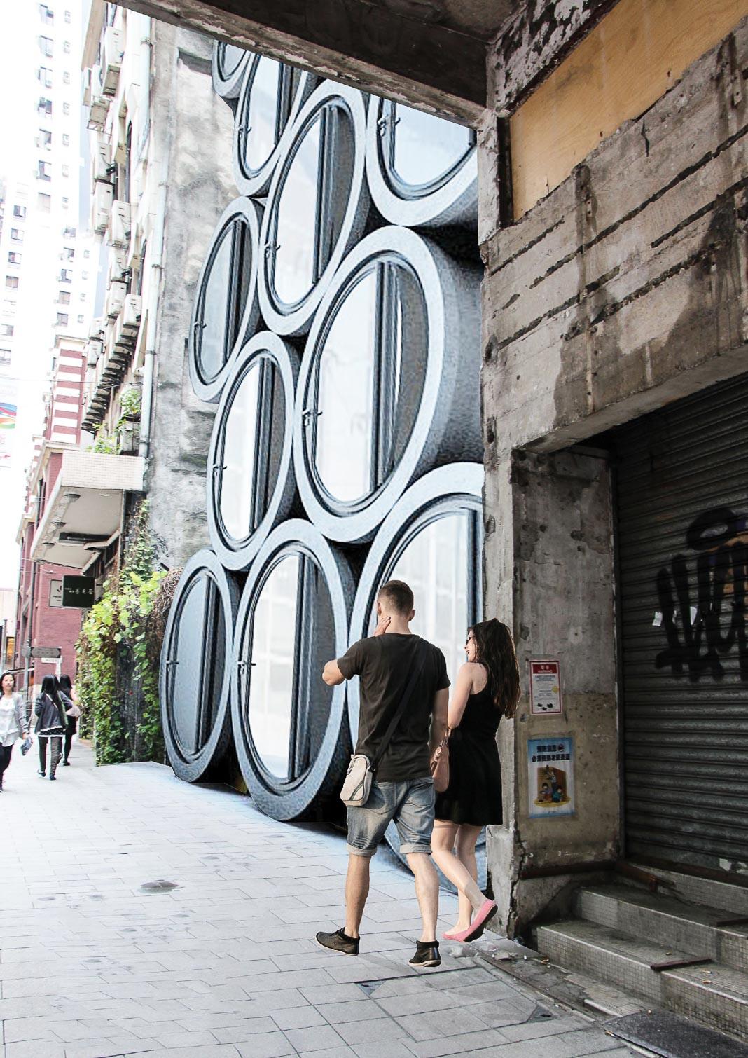 OPod đặt chồng lên nhau ở khu Sheung Wan của Hong Kong 1