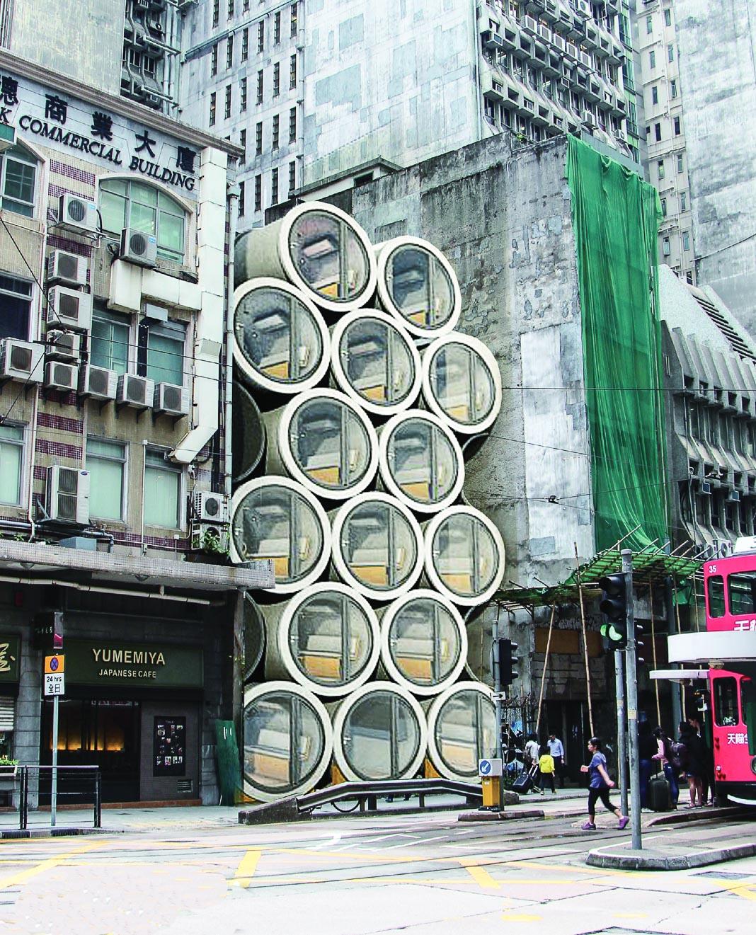 OPod đặt chồng lên nhau ở khu Sheung Wan của Hong Kong 2