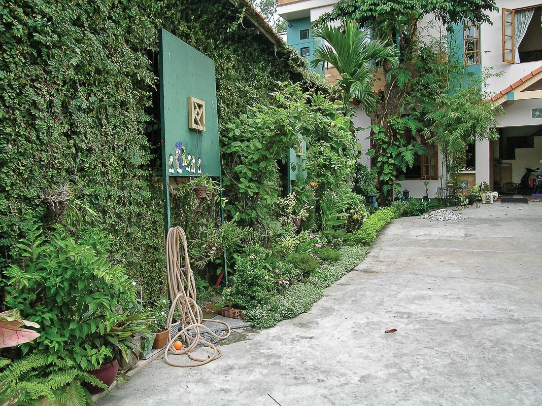 Mái vươn rộng, khối nhà lồi lõm, phủ cây xanh… giúp giảm lượng nhiệt truyền trực tiếp và nhiệt phản chiếu lên các bề mặt nhà 1