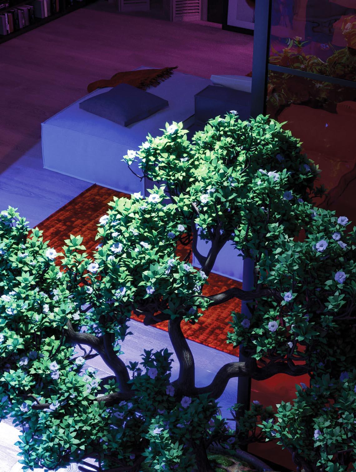 Thiết kế nội thất hiện đại với tông màu đỏ và xám theo phong cách Nhật Bản-22